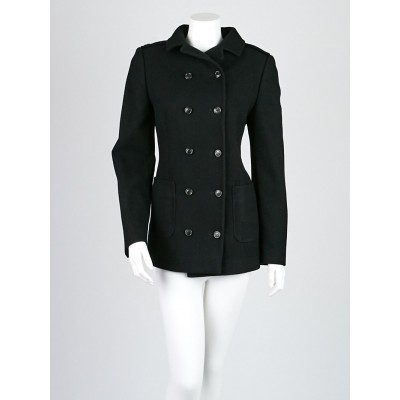 Dolce & Gabbana Black Wool Double Breasted Jacket Size 6/40