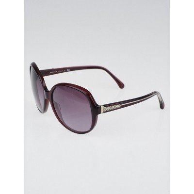 Chanel Red Oversized Acetate Frame Sunglasses-5196
