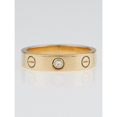 Cartier 18k Yellow Gold and Diamonds LOVE Ring Size 5.25/50