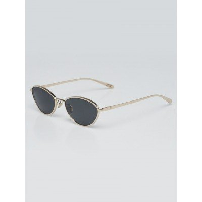 Chanel Goldtone Metal Low Profile Etched Sunglasses - 4255
