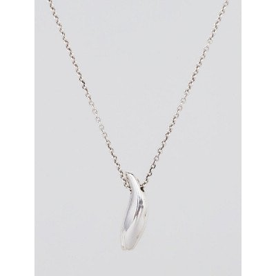 Tiffany & Co. Sterling Silver Frank Gehry Fish Pendant Necklace