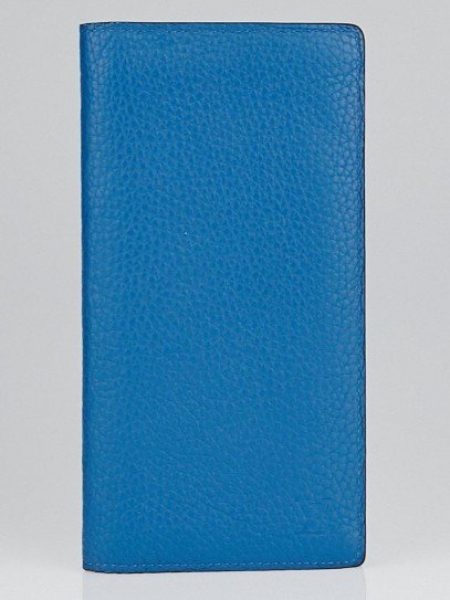 Louis Vuitton Bleu de Saxe Taurillon Leather Brazza Wallet
