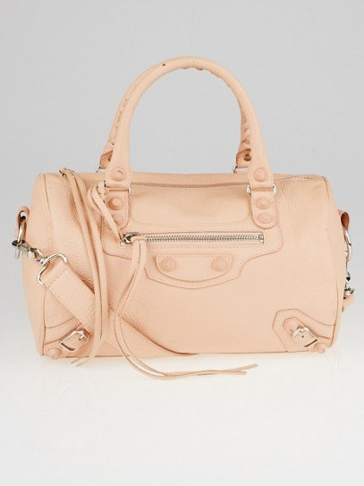 Balenciaga Pink Poudre Chevre Leather Rubber Covered Giant 12 Mini Twiggy Bag