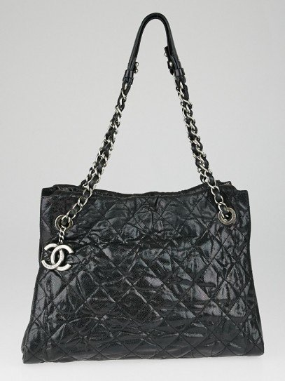 Chanel Black Quilted Glazed Calfskin Leather Crave Tote Bag