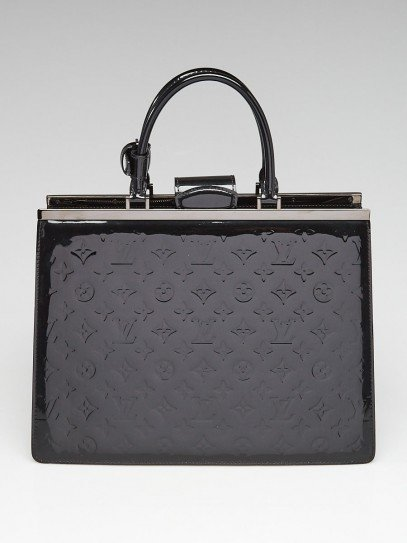 Louis Vuitton Black Monogram Vernis Deesse GM Bag