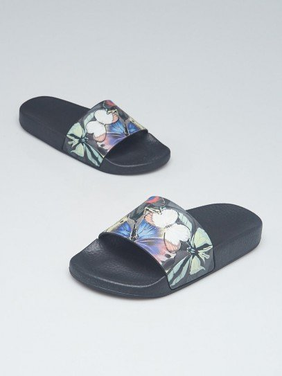 Valentino Multicolor Rubber Butterfly Slide Sandals Size 4.5/35