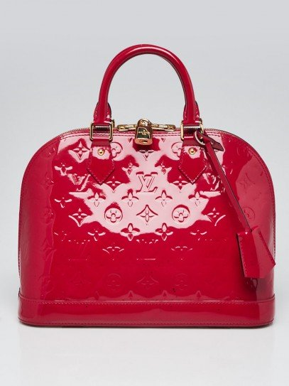Louis Vuitton Rose Indian Monogram Vernis Alma PM Bag