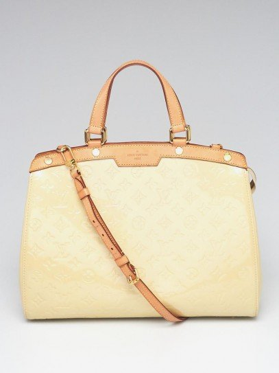 Louis Vuitton Blanc Corail Monogram Vernis Brea GM Bag
