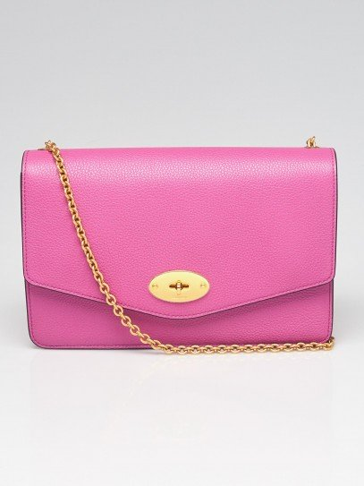 Mulberry Orchid Grained Leather Medium Darley Crossbody Bag
