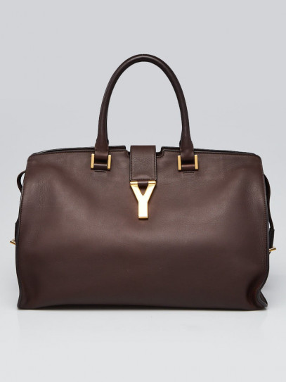 Yves Saint Laurent Brown Leather Medium Cabas ChYc Bag