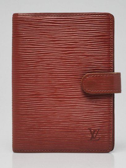 Louis Vuitton Cipango Gold Epi Leather Small Ring Agenda/Notebook