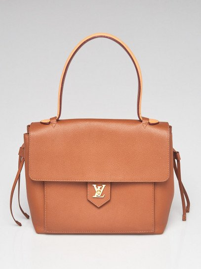 Louis Vuitton Caramel Pebbled Leather Lockme PM Tote Bag
