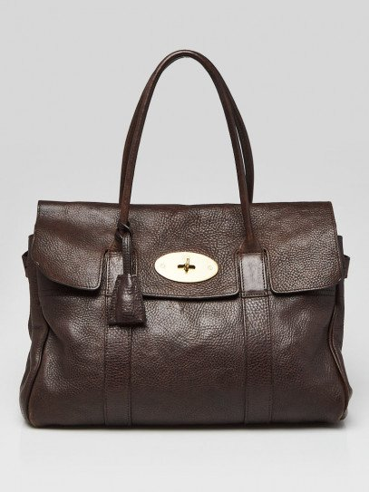 Mulberry Brown Pebbled Leather Bayswater Bag