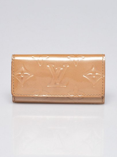 Louis Vuitton Beige Vernis Leather Multicles 4 Ring Key Holder