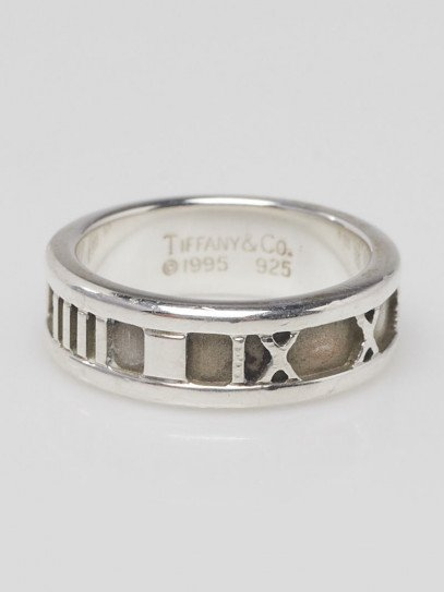 Tiffany & Co. Sterling Silver Atlas Ring Size 5.5