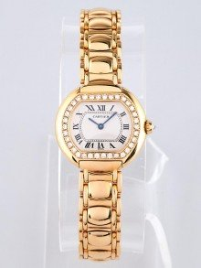 Cartier 18k Gold and Diamonds Ellipse Watch