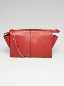 Celine Dark Claycourt Smooth Leather Trifold Clutch Bag