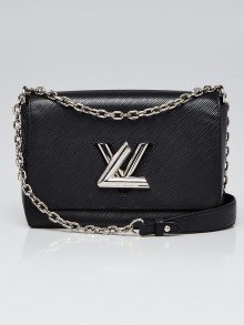 Louis Vuitton Black Epi Leather MM Twist Bag