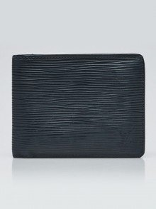 Louis Vuitton Anthracite Nacre Epi Leather Multiple Wallet