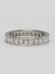 Cartier Platinum and Diamond Eternity Band Size 5.5
