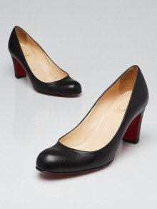 Christian Louboutin Black Leather Miss Tack 70 Pumps Size 6.5/37