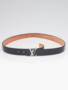 Louis Vuitton Black Epi Leather Initiales Belt Size 95/38