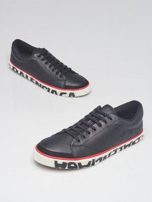 Balenciaga Black Leather Match Low Top Sneakers Size 12.5/43