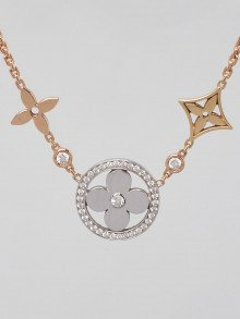 Louis Vuitton 18k Tri-Gold and Diamond Idylle Blossom XL Necklace