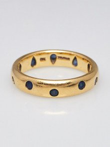Tiffany & Co. 18k Gold and Sapphire Etoile Ring Size 6.5