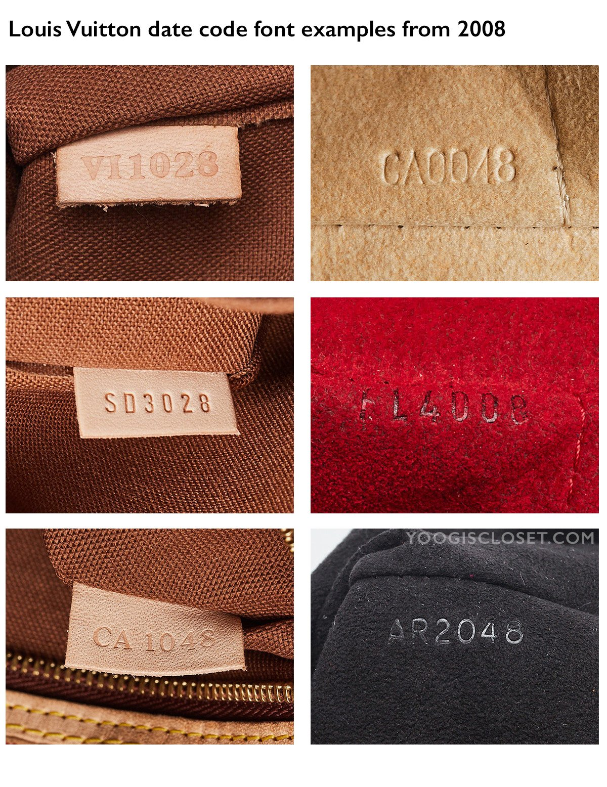 Louis Vuitton Date Code Examples from 2008   Yoogi's Closet Authenticated Pre-Owned Luxury yoogiscloset.com
